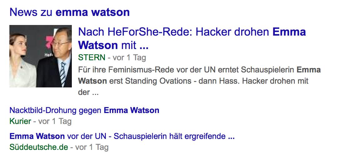 New zu Emma Watson