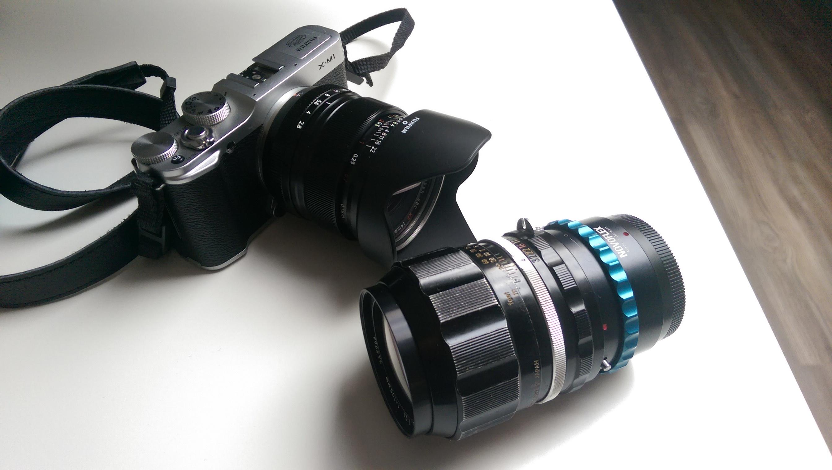 Fujifilm X-M1 mit 14mm und 105mm