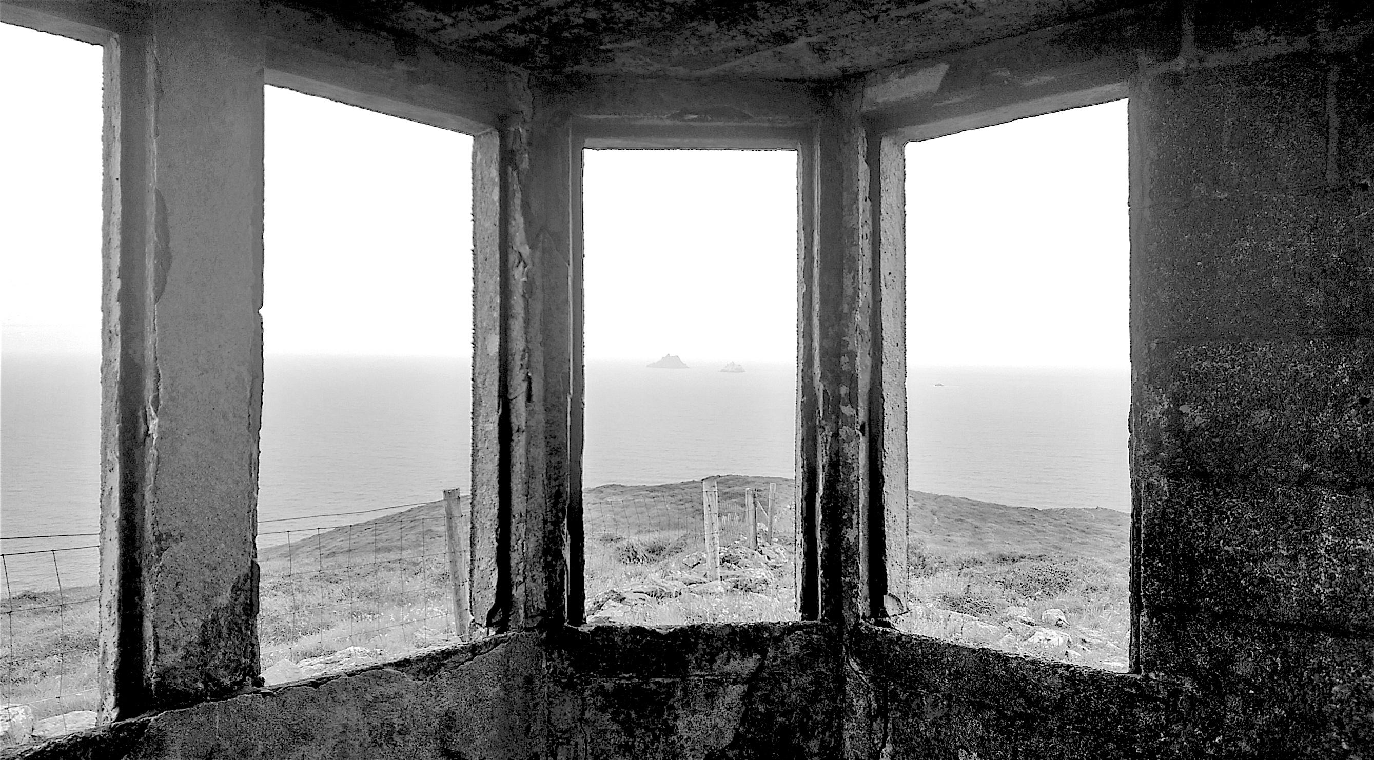 Blick aus Aussichthütte