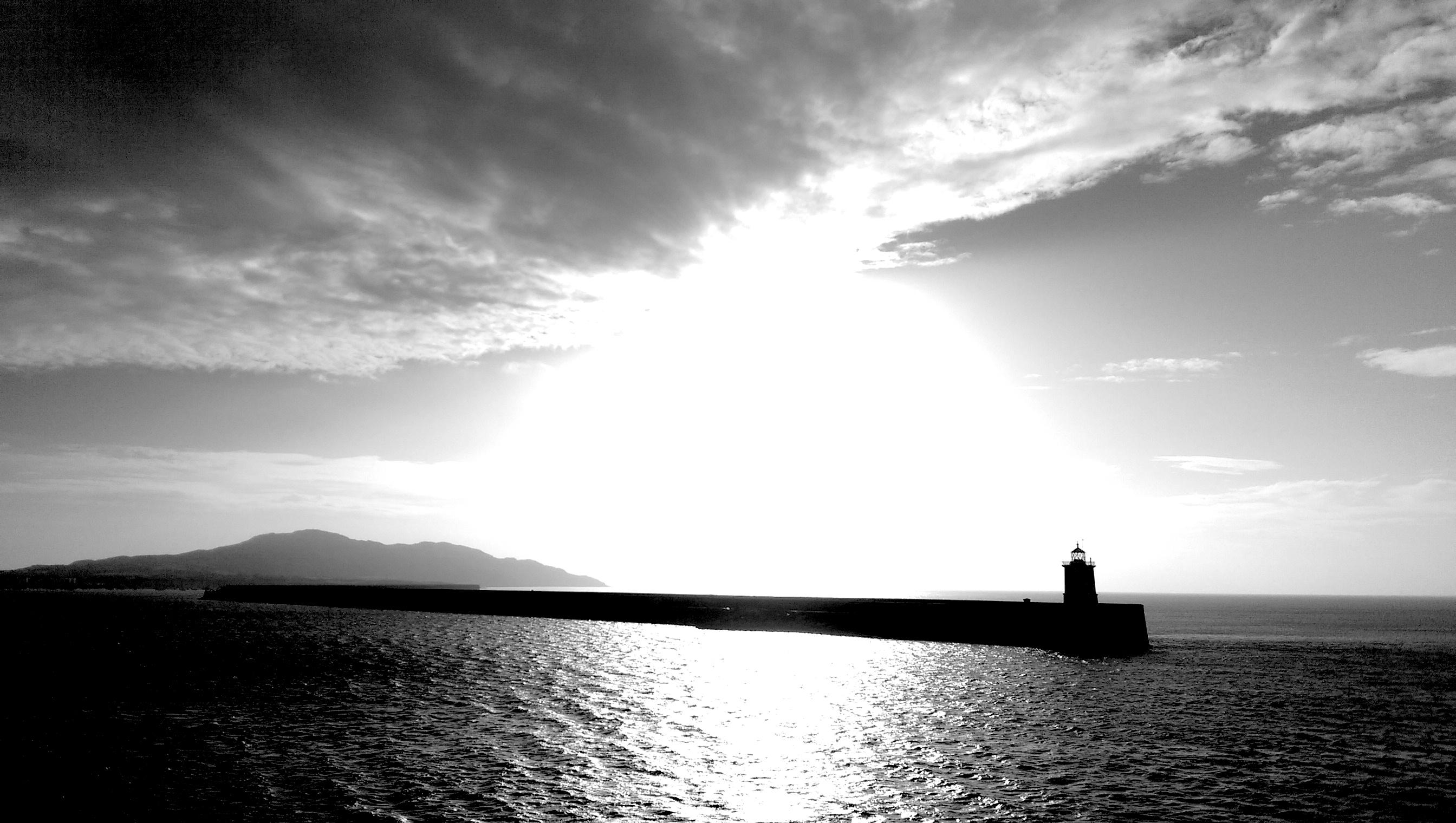 Leuchtturm an der Hafeneinfahrt von Holyhead