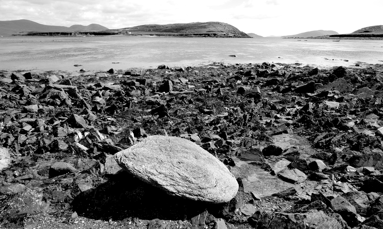 Großer Stein bei Ebbe